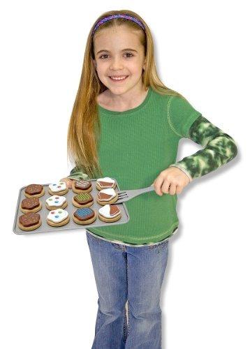melissa & doug slice and bake wooden cookie juego de comida