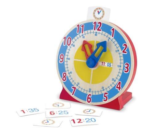 melissa - doug turn - tell wooden clock - juguete educativo