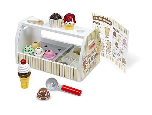 melissa - doug wooden scoop y serve ice cream counter (28 pi