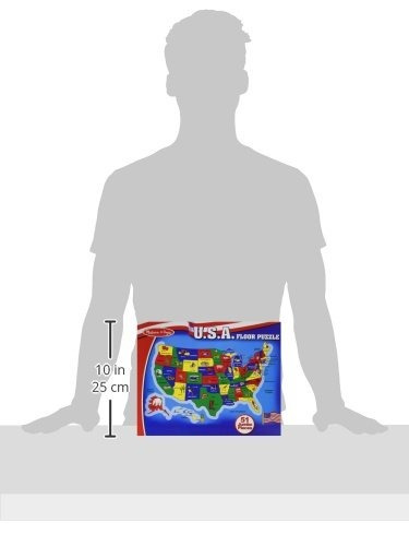 melissa - puzzle de piso de doug usa map (51 piezas, 2 x 3 p