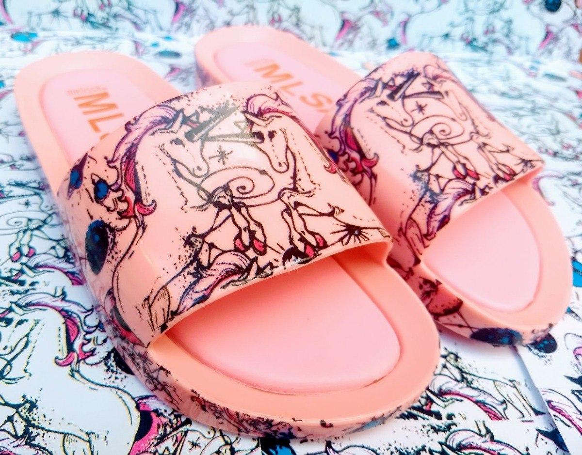 8363bc6d3 melissa beach sandália chinelo feminino estampada unicórnio. Carregando zoom...  melissa sandália chinelo feminino. Carregando zoom.