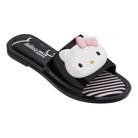 Melissa Slipper Hello Kitty Preto