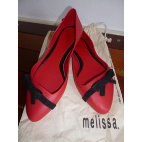 Melissa Trippy Flat Vermelha/preta Nova - Nunca Usada - 36
