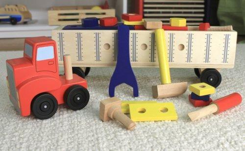 melissa y doug big rig truck juego de construcción de madera