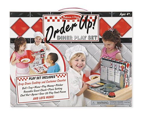 ¡melissa y doug ordenan! diner play set con play food (53