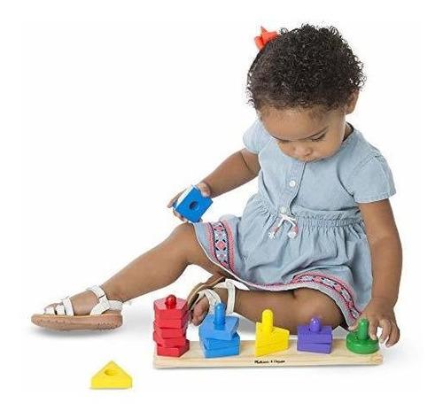 melissa y doug stack and sort board - juguete educativo de m