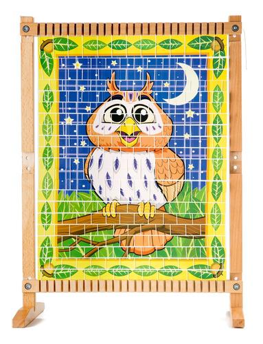 melissa y doug telar multi-artesanía de madera