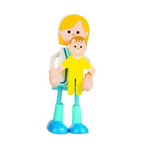 melissa y doug wooden flexible figuresfamily dolls for dollh