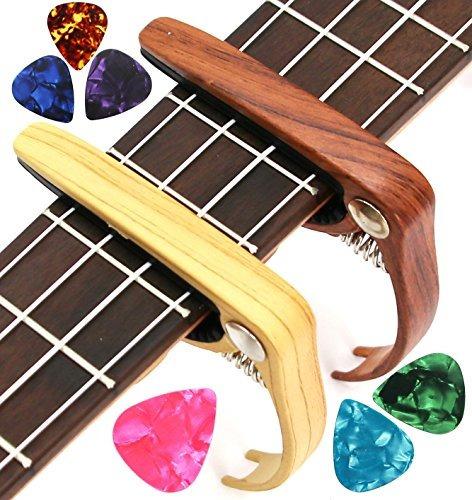 melodic top guitar capo con 6 púas de guitarra gratis para