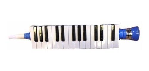 melodica con funda 27 notas a piano parquer azul mel27-blu