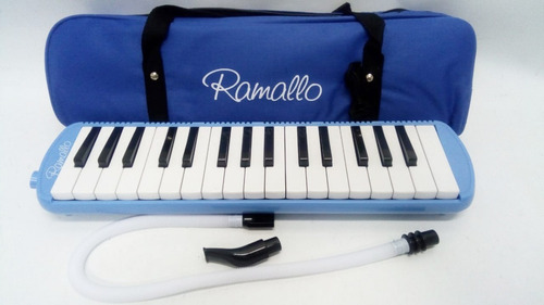 melodica con funda 32 notas a piano color azul con estuche