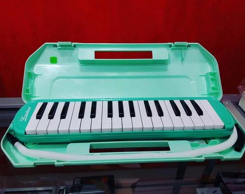 melódica de 27, 32, 37 notas + estuc  rosado, verde, celeste