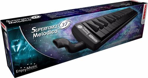 melodica  hohner superforce 37 teclas negras + estuche
