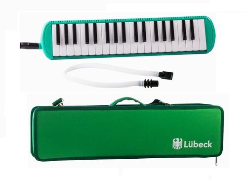 melódica lubeck 37 notas (estuche rígido,manguera, boquilla)