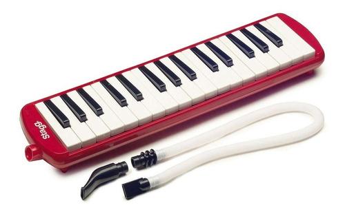 melódica piano 32 notas + estuche rojo stagg melosta32rd