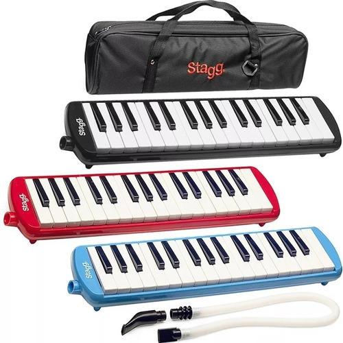 melodicas piano 32 notas con funda pico y manguera completas