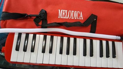 melodicas rojas 32 teclas nuevas con estuche y manguera