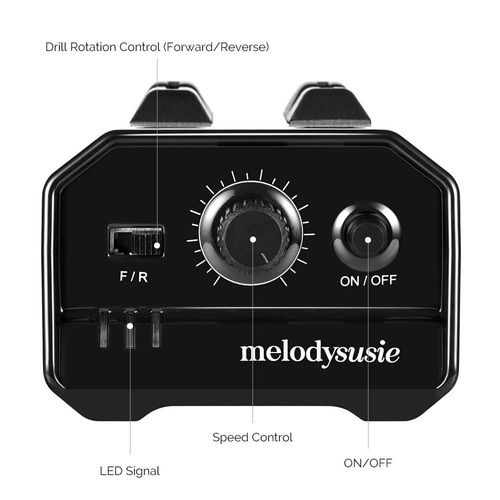 melodysusie professional electric nail drill - herramient
