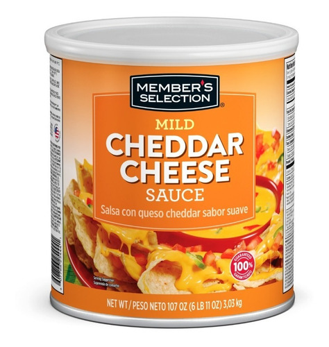 member's selection salsa con queso cheddar 3,03 kg