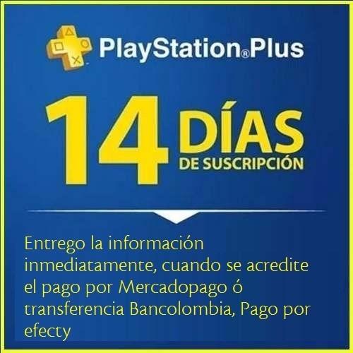 membership psn 14 dias, ps4, ps3 y psvita