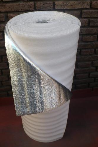 membrana aislante bajo teja o chapa 10mm aluminizada