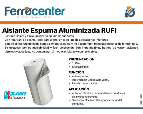 membrana aislante espuma aluminizada isolant 5 mm rufi