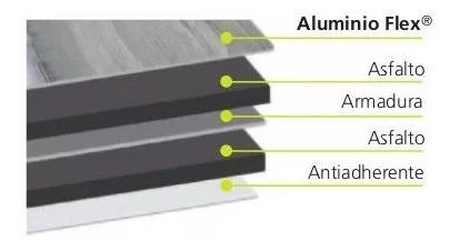 membrana asfaltica 40kilos aluminio flexible no crack