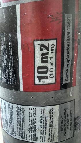 membrana asfaltica 4mm c/aluminio flex 42 kg reales fabrica