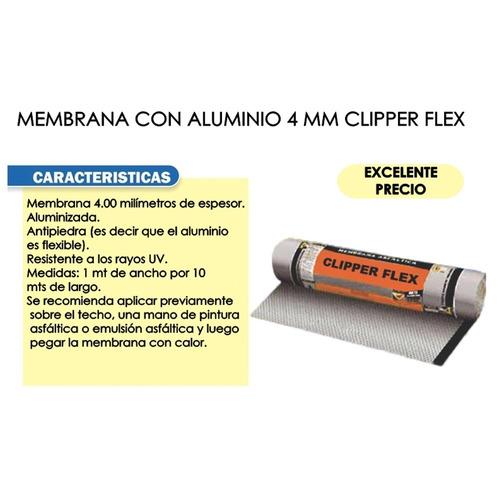 membrana asfaltica aluminio clipperflex 35kg nº4 pintumm