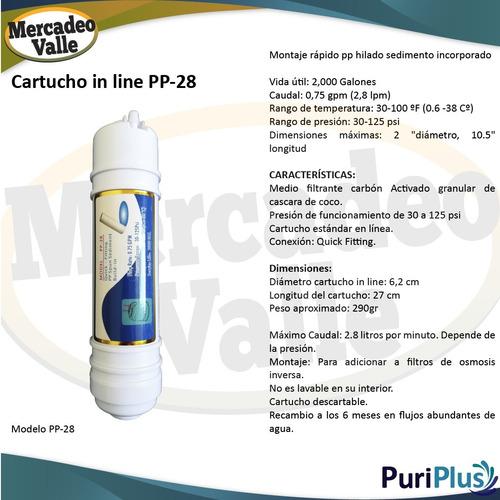 membrana cartucho in line big pp sedimentos 5 micras