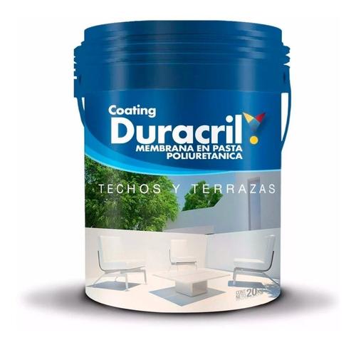 membrana duracril en pasta poliuretanica 20 lts blanco rojo