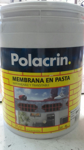 membrana en pasta polacrin 20 litros