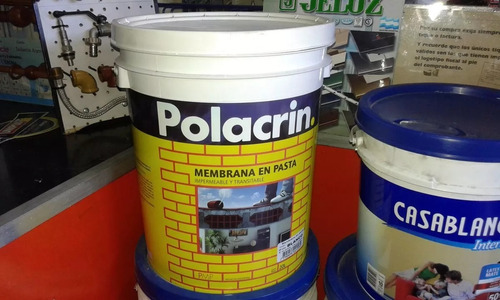 membrana en pasta polacrin x 10 l  z/oeste local blanca/roja