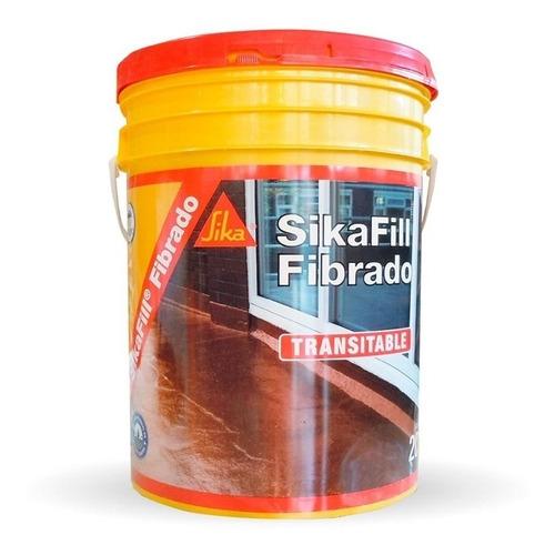 membrana líquida acrilica sikafill techos fibrado x20kg roja