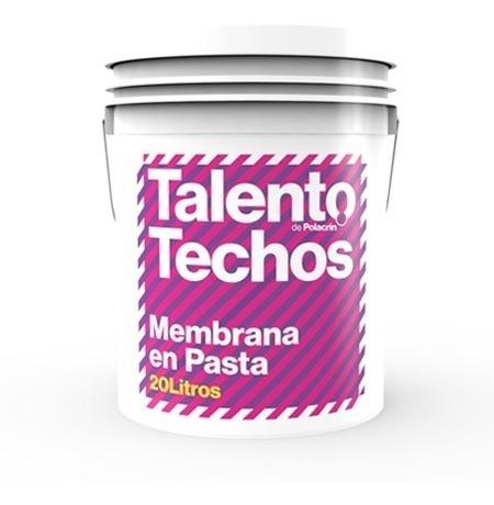 membrana liquida elastica 20 lts polacrin talento + rodillo