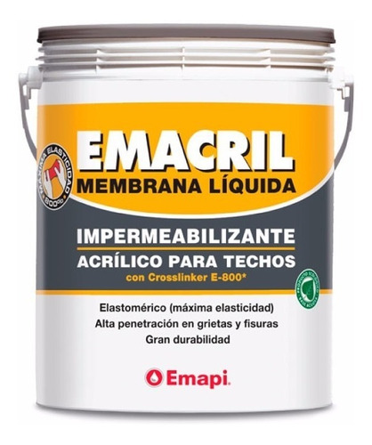 membrana liquida elastica emacril techo barrera diseño 20kg