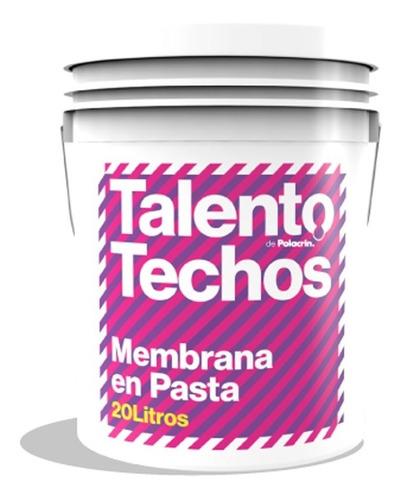 membrana liquida pasta 20 lts para techos polacrin talento