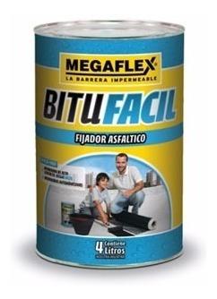 membrana megafacil megaflex por contacto 10m2 + fijador 4lts