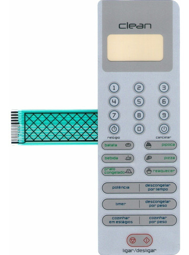 membrana teclado microondas brastemp bms18ab bms1 8ab clean