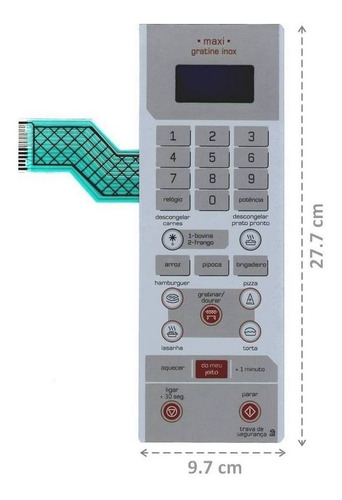 membrana teclado microondas brastemp bmx35ab maxi gratine
