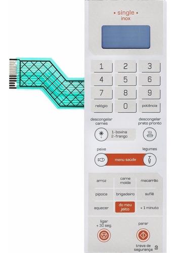 membrana teclado microondas brastemp bmy25 single inox