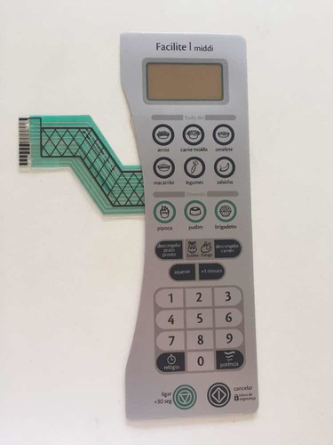 membrana teclado microondas cônsul cmy30 facilit/middi