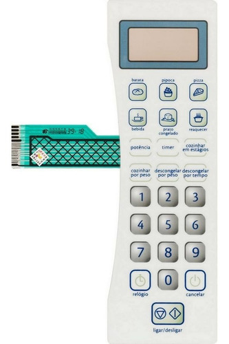 membrana teclado microondas consul cms18bbhna cms18bchn