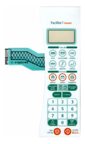 membrana teclado microondas consul cms40ab facilite master