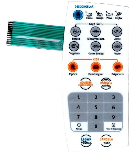 membrana teclado microondas electrolux mef28 mef 28