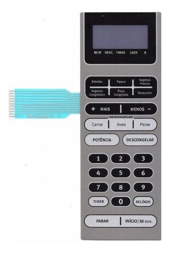 membrana teclado microondas electrolux mex55 mex 55 nova!!!!
