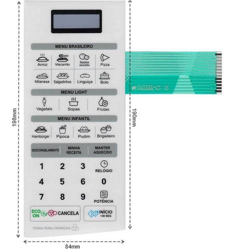 membrana teclado microondas lg ms2347g ms 2347ga 19.8x8.4cm