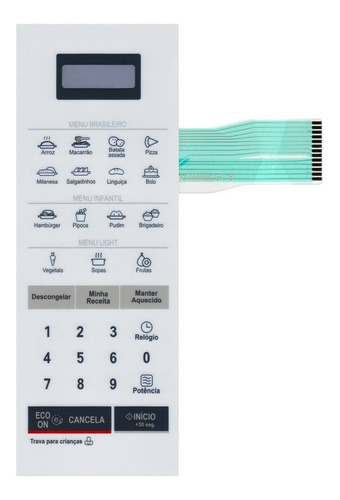 membrana teclado microondas lg ms2355r  24.5cm x 8.8cm
