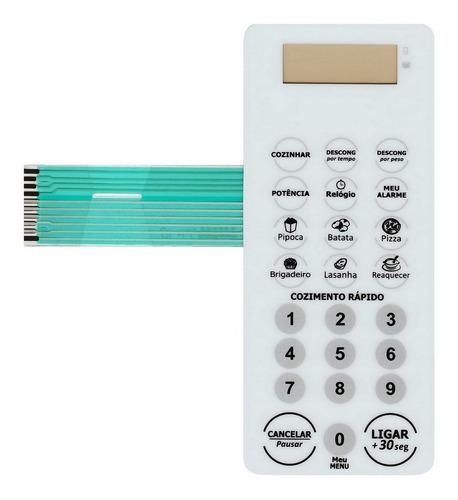 membrana teclado microondas midea mm20mo1vw mm 20mo 1vw