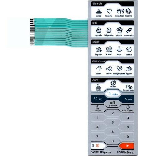 membrana teclado microondas midea mtas41 mtas42 mtas 41 / 42